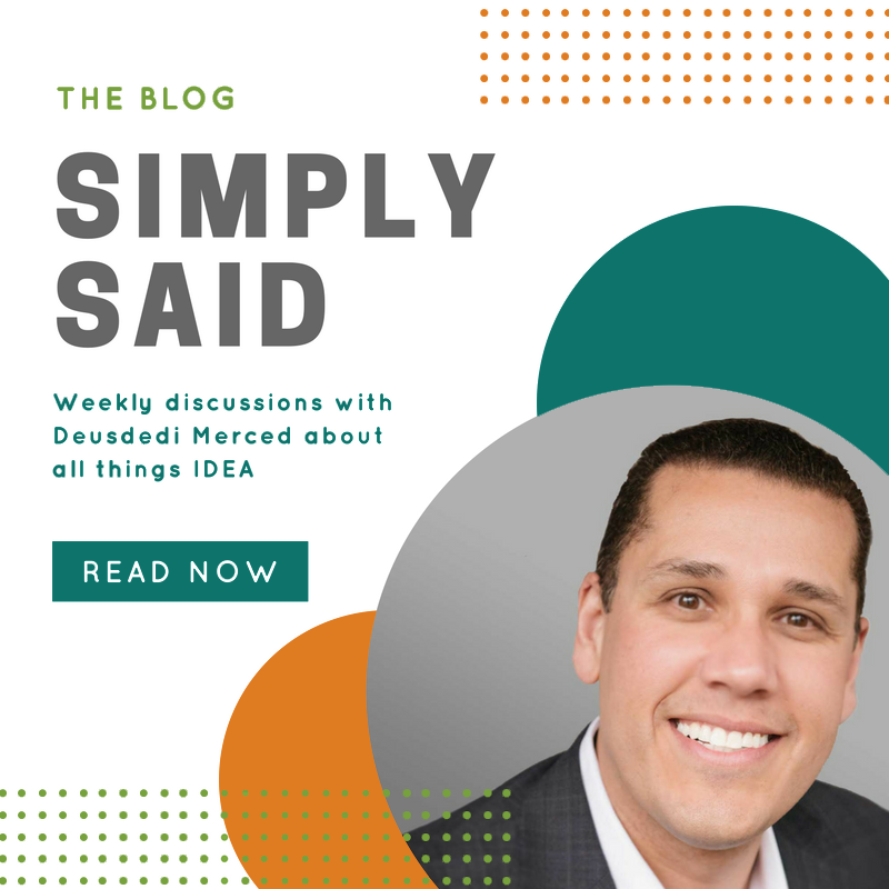 The blog-simply said-weekly discussions with Deusdedi Merced about all things IDEA-read now