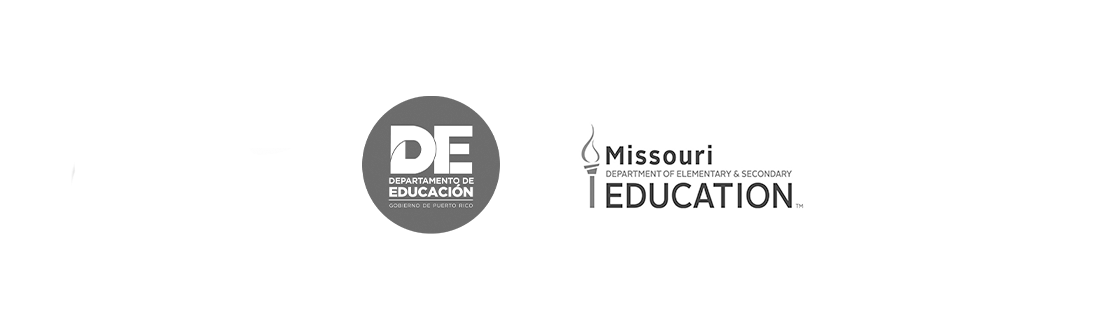 Two of our clients: Departamento de Educacion de Puerto Rico, The Missouri Department of Elementary & Secondary Education